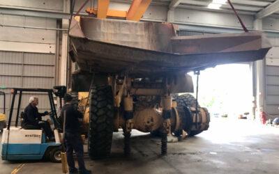 Proceso de reparación de Komatsu HD/465-6