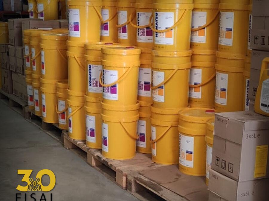 Recepción de aceite para Stock